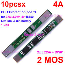 10PCs 3.7V 4A BMS PCB Li-ion Lithium Battery 18650 Charger Protection Board 2MOS