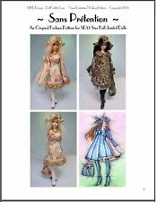 """Sans Prétention"" - 24"" (60 cm) Bjd Ball Jointed Doll Fashion Clothing Pattern"