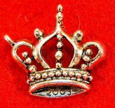50Pcs. WHOLESALE Tibetan Silver King's CROWN Charms Pendant Earring Drops Q0077
