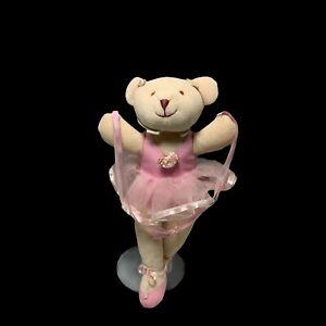 Baby Ballerina Dancer Plush Bear Stuffed Animal Soft Toy Pink White Pacifix Tutu