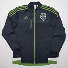 New ListingAdidas Seattle Sounders Mls Soccer Jacket Gray Green Large L Athletic Fit