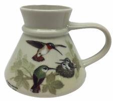 Vntg Hummingbird Otagiri Japan Gibson No Spill Coffee Mug Cup Travel Wide Bottom