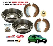 FOR CORSA 1.0 1.2 1.4 1.5 D TD 1.6 1.7D 1993-2000 REAR BRAKE DRUMS + SHOES 200mm