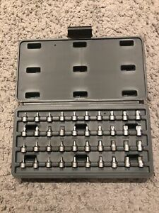 "40 pc 1/4"" Drive Stubby Bit Socket Set Blue-Point Made by Snapon"