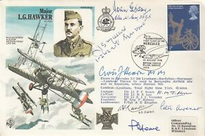 HA39b7  L G Hawker  Signed 7  Battle of Britain Pilots, Crew. WAAF