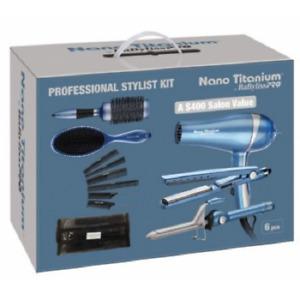 BaByliss PRO Nano Titanium Professional Sytlist Kit 6 pcs set BABYSTYLEKIT