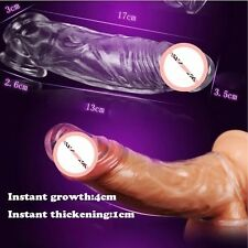 Silicone Crystal Sleeve Guaina per-Clit for Sexy Penis Pleasure_Ring Extension