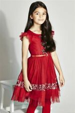 NEW  NEXT Signature Red Embellished Dress Age 8 Party Christmas Occasion BNWT