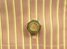 Art Deco Circa 1925 Green Mother of Pearl Snap a Part Cuff Links Snaps Snapper