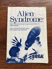Alien Syndrome Sega Master System Genesis Game Instruction Manual Only
