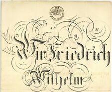PREUSSEN 1819 Patent Postmeister AACHEN Cleve Generalpostmeister SEEGEBARTH