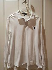 Mens Polo Ralph Lauren Long Sleeve Shirt Size XL White, Custom Fit