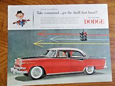 1955 Dodge Custom Royal Lancer 4 Door Sedan Ad