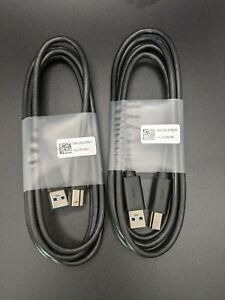 Qty:2 Dell 6ft USB 3.0 SuperSpeed Device Cable 5 Gbps A Male B Printer Scanner