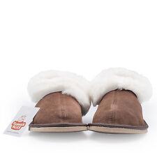 100 Sheepskin Slippers for Women Wool Insole Rubber Sole. UK UK 6 EU 39