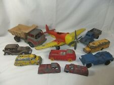 Vintage Toy Mixed Lot: Hubley & Tootsie - Airplane Cars Trucks - Diecast