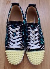 Christian Louboutin MENS Louis Junior Cheetah & Spikes - RARE PATTERN