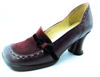 John Fluevog Hi-Choice Jennifer Vinaccia Plum Loafer Pumps SIZE 8 - Heart Heels