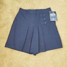 French Toast 10 1/2 plus  navy pleated school uniform short NWT