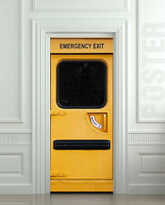 Door Wall or Fridge STICKER emergency exit mural poster cover wrap decole decal