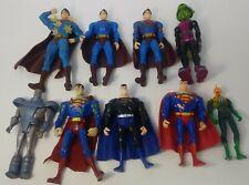 Lot of 9 DC Comics Action Figures: Superman Returns, JLU, Beast Boy, Tomar-Re