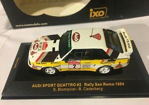 AUDI QUATTRO SPORT #2 RALLY SAN REMO 1984 IXO RAC060 1/43 SCALE