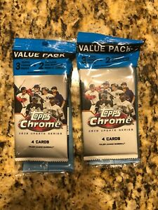2020 Topps Chrome Value Packs LOT (x2) - Factory Sealed - Pink Parallel 3 Packs