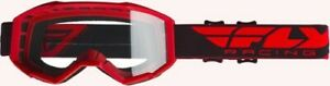 Fly Racing Youth Focus Goggles for Motocross, Off-road, ATV, UTV Red Red FLC-008