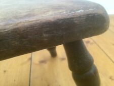 Rare 150 Year Old Antique Oak Gout Stool Foot Rest Bench Wooden