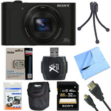 Sony Cyber-Shot DSC-WX500 Digital Camera w/ 3-Inch LCD Screen Black 32GB Bundle