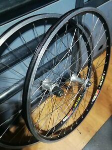 "Shimano Deore XT M750 Mavic 217 SUP 26"" Wheels Wheelset Retro"