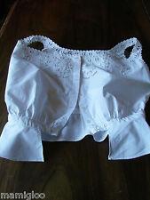 caraco cache corset en coton broderie richelieux main☺old clothe blouse