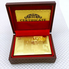 Spielkarten Luxus Pokerkarten Golden aus Plastik Casino Poker PVC Kunststoff