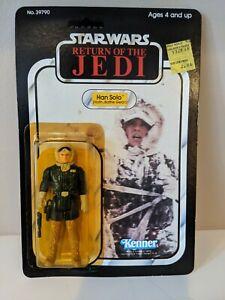 Vintage Star Wars ROTJ Han Solo Hoth Battle 1983 Kenner MOC 77 Back Unopened
