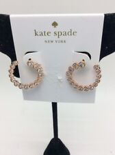 "Colors Bipass Clear/Rose Gold Hoop Z11 $58 kate spade ""Bipass Hoops"" Flying"