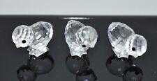 VTG 1988 Swarovski Crystal Figurines Mini Chickens (Set of 3) 7676 COA