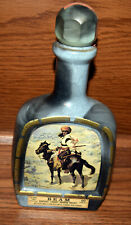 Vintage Jim Beam Decanter Bottle with Frederic Remington The Indian Trapper