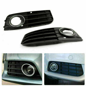 Front Fog Light Non-Sline Bumper Grille For Audi A4 A4L B8 09-11 Left&Right A15