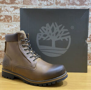 TIMBERLAND MEN'S RUGGED 6-INCH WATERPROOF BOOTS 074134 SIZE 10.5M