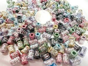 Aluminum Beads Bulk For Jewelry Making Silver Metal Bead TUBE 200 pcs