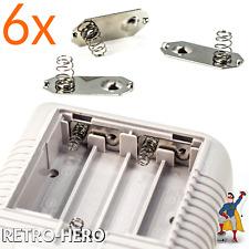 6x Game Boy Classic Batterie Feder Kontakt Blech Compartment Springs Battery
