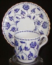 Spode Bone China Demitasse Cup & Saucer - Colonel Blue - Y6235