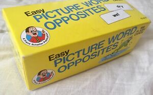 Frank Schaffer Easy PICTURE WORD OPPOSITES 100 Flash Cards. complete