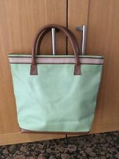 STYLISH ESTEE LAUDER PALE GREEN & TAN TOTE BAG & MAKE UP BAG / NEW WITHOUT TAGS
