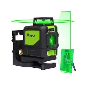 Huepar 901CG Self-Leveling Laser Level, 360 Green Beam Cross Line Laser Tool,...