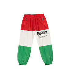 Rrp €160 Moschino Kid Track Trousers Size 8Y Fully Lined Colour Block Cuffed