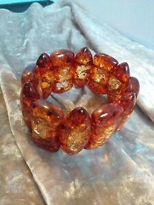 Amber Look Chunky Bangle Bracelet