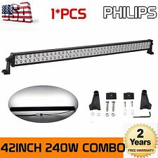 42inch 240W Philips Led Work Combo Flood Spot Light Bar Driving SUV 4WD Jeep SP