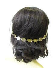 Gold Leaves Hair Vine Headpiece Headband Grecian Boho Festival Chain Bridal 1418