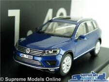 VOLKSWAGEN VW TOUAREG MODEL CAR 1:43 SCALE BLUE HERPA SPECIAL DEALER ISSUE K8